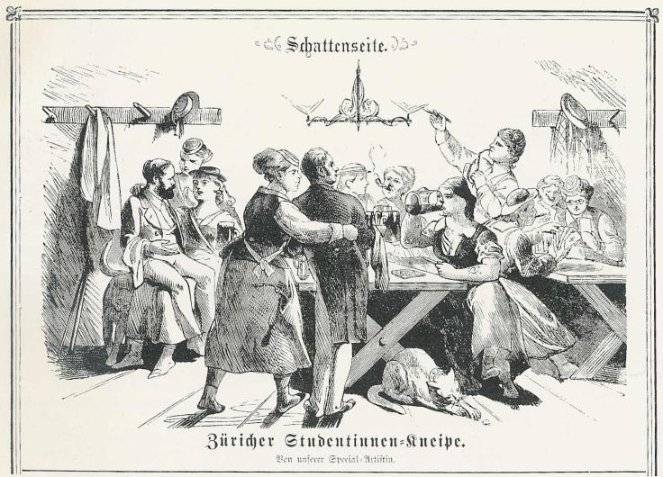 Special-Artistin_-_Schattenseite_-_Züricher_Studentinnen-Kneipe_1872
